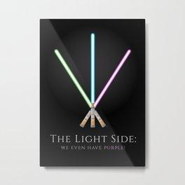 The Light Side Metal Print