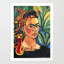 Medusa Frida Art Print