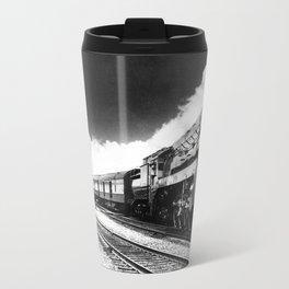 CN Trains pulling Royal Tour cars -Trains du CN tirant les voitures de la tournée royale  Travel Mug