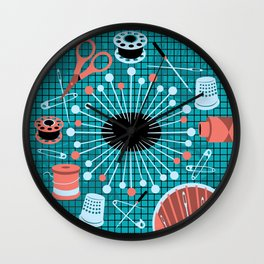 pins and needles Wall Clock