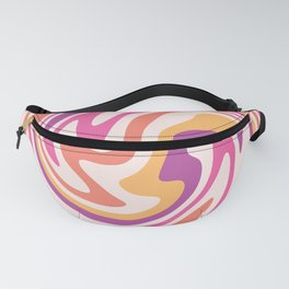 70s retro swirl sunset psychedelic Fanny Pack