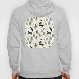 Foxy in winter pine forest Hoody