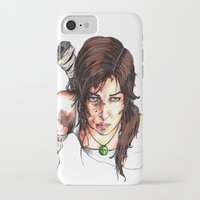 tomb raider iPhone & iPod Cases featuring Tomb Raider: The Survivor by Dale Dupre