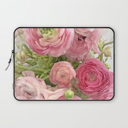 Shabby Chic Cottage Ranunculus Peonies Roses Floral Print Home Decor Laptop Sleeve