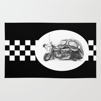 cafe racer Area & Throw Rugs featuring Cafe Racer II by Rainer Steinke