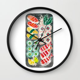 Sushi Collection – Black Platter Wall Clock
