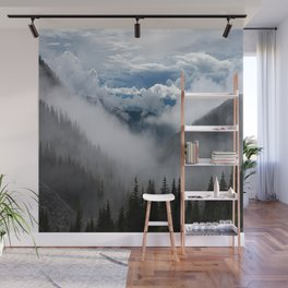 MOUNTAIN, FOREST AND FOG Wall Mural