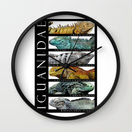 Iguanas of the World Wall Clock