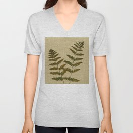 Ferns by Kathy Morton Stanion Unisex V-Neck