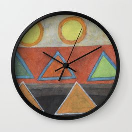 Clear the Stage for the Geometry Show Wall Clock