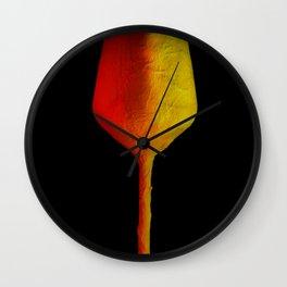 Coloured wine glass Wall Clock
