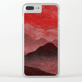 Through hilly lands and hollow lands - Red option Clear iPhone Case