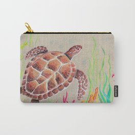 Tan Sea Turtle Carry-All Pouch