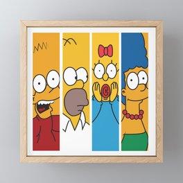 Famous Cartoon Characters No. 1-4 Framed Mini Art Print