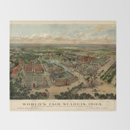 St. Louis Worlds Fair 1904 Throw Blanket
