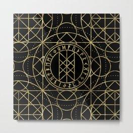 Web of Wyrd  -The Matrix of Fate Metal Print
