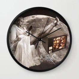 skull tv! Wall Clock