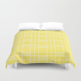 Yellow Squares and Dots Duvet Cover