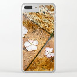 Flowers on Water Clear iPhone Case
