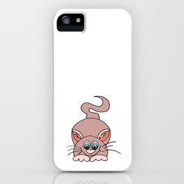 Drawn by hand a lovely cat for children and adults iPhone Case