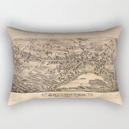 Aerial View of Arlington, Massachusetts (1884) Rectangular Pillow