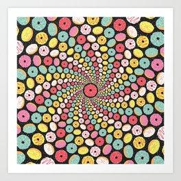 Donut Swirl Art Print