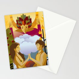 tarot card the lovers Stationery Cards