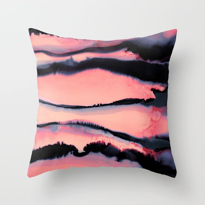 Ink 02 Throw Pillow