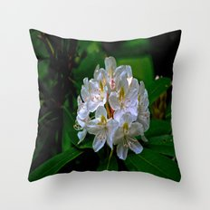 Rhododendron Bloom at Falling Water Throw Pillow