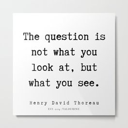 84   | Henry David Thoreau Quotes  | 190715 | Metal Print