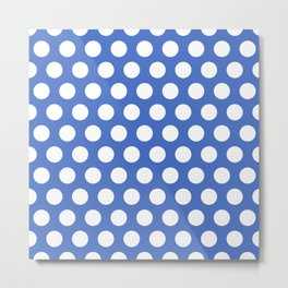 Blue and White Polka Dots 772 Metal Print