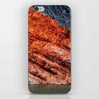 greg guillemin iPhone & iPod Skins featuring Orange rock - Greg Katz by Artlala for MSF Doctors Without Borders