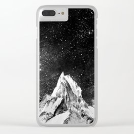 mont gore - mountain and star Clear iPhone Case