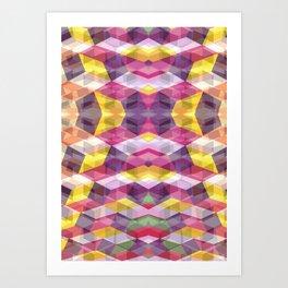 Geometric Bokeh Art Print