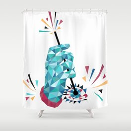 Something in the Eye Shower Curtain