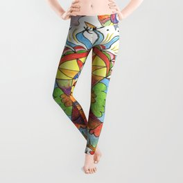 fantasy abstract doodle Leggings