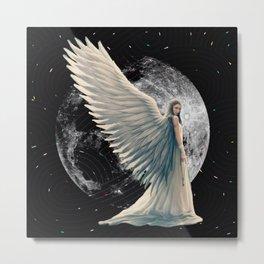 The Moon Angel Metal Print