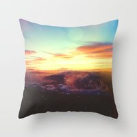 rogue Throw Pillows featuring Planet Rogue by Daniel Montero