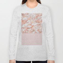 Massarosa rose gold on blush Long Sleeve T-shirt