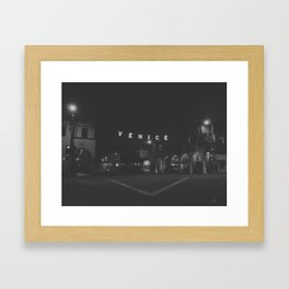 136 | venice beach Framed Art Print
