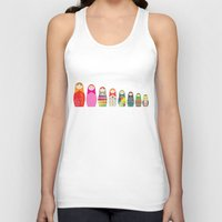 russian Tank Tops featuring Russian Dolls by malobi