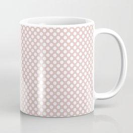 Lotus and White Polka Dots Coffee Mug