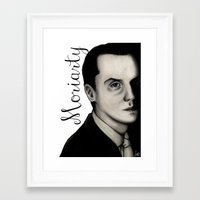 moriarty Framed Art Prints featuring Moriarty by LiseRichardson