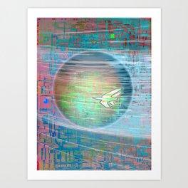 Flying Around the World Art Print