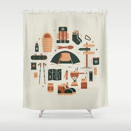 Thru Hiker Shower Curtain