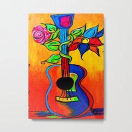Spanish Guitar painting Metal Print