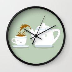 Tea Time! Wall Clock