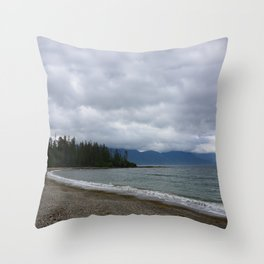Low Clouds over the Bay Throw Pillow