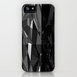 Etching in Black and White iPhone Case