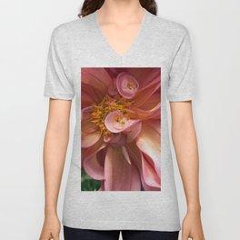 Peachy Swirls Unisex V-Neck